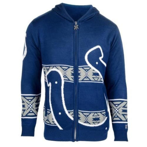 Indianapolis Colts NFL Team Logo Full Zip Hooded Sweater