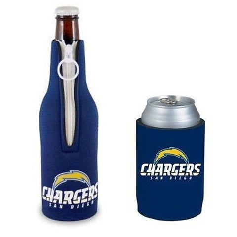 San Diego Chargers NFL Cooler Can & Bottle Beer Drink Holder Officially Licensed
