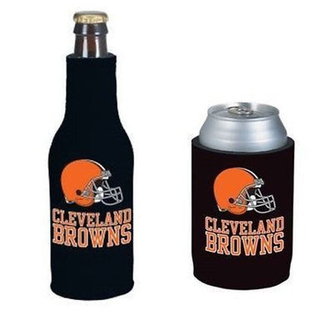 Cleveland Browns NFL Cooler Can & Bottle Beer Drink Holder Officially Licensed