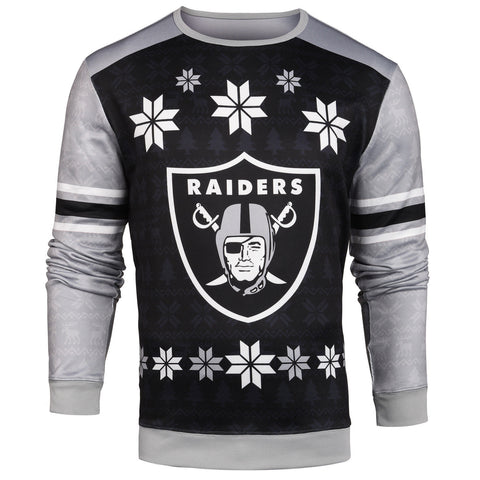 Oakland Raiders Official NFL Printed Ugly Sweater