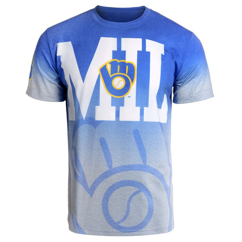 Milwaukee Brewers Retro Official MLB Gradient Tee By Klew