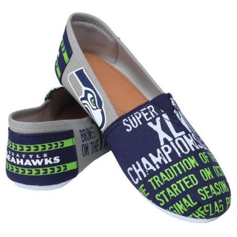Seattle Seahawks Official NFL Thematic Canvas Shoes