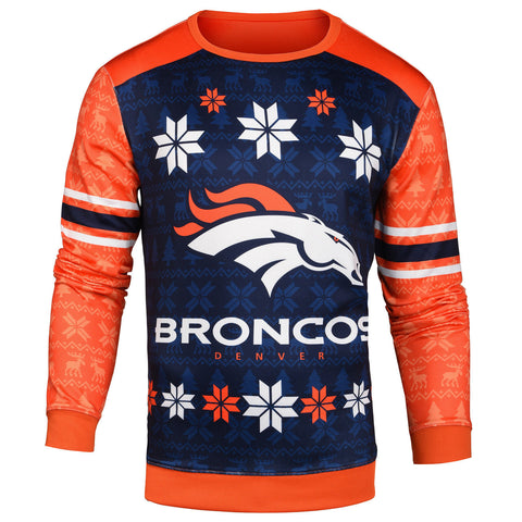 Denver Broncos Official NFL Printed Ugly Sweater