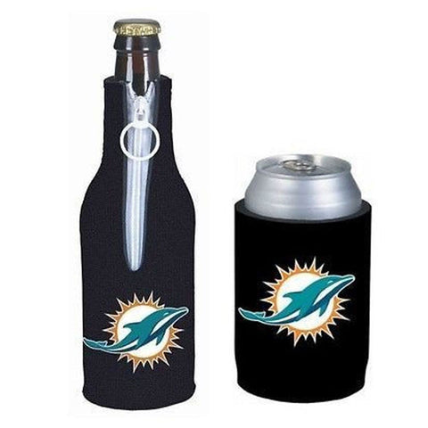 Miami Dolphins NFL Cooler Can & Bottle Beer Drink Holder Officially Licensed
