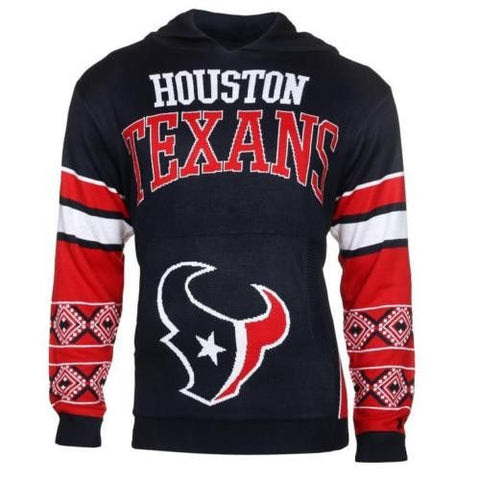 Houston Texans Team Logo Hooded Sweater By Klew