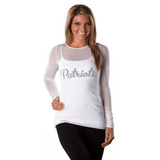 New England Patriots Women's Official NFL 'Two Piece' Top