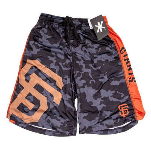 San Francisco Giants Official MLB Big Logo Camo Shorts