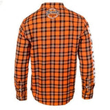 Cincinnati Bengals NFL Wordmark Long Sleeve NFL Flannel Shirt By Klew