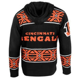 Cincinnati Bengals NFL Full Zip Hooded Sweater By Klew