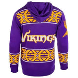 Minnesota Vikings NFL Full Zip Hooded Sweater By Klew