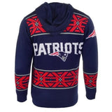 New England Patriots NFL Team Logo Full Zip Hooded Sweater