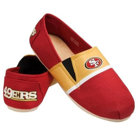 San Francisco 49ers Official NFL Stripe Canvas Shoes - Men