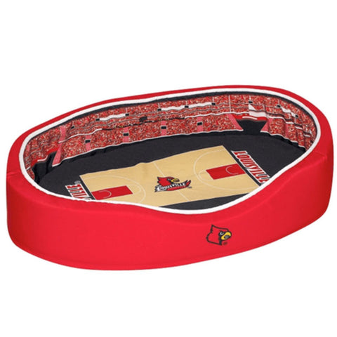 Louisville Cardinals Official NCAA Pet Stadium Crib - Large