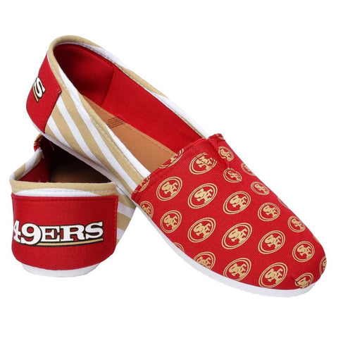 San Francisco 49ers Official NFL STRIPE Canvas Shoes