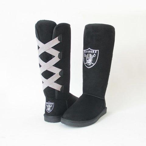 "Crystal Logo ""Victor Boots"" For Raiders Fans"
