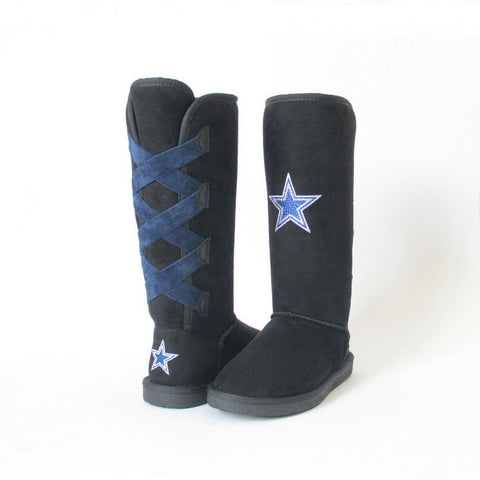 "Crystal Logo ""Victor Boots"" For Dallas Cowboys Fans"