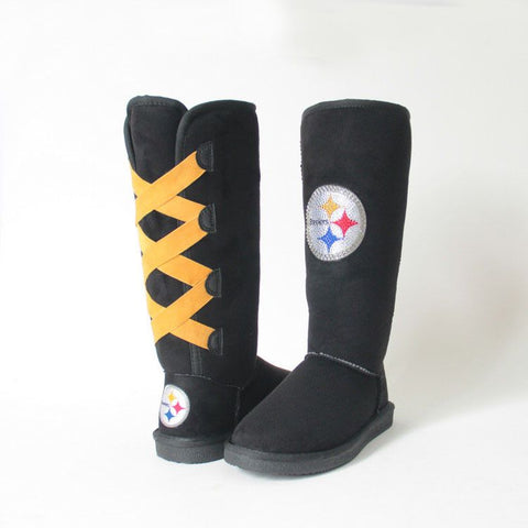 "Crystal Logo ""Victor Boots"" For Steelers Fans"
