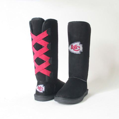 "Crystal Logo ""Victor Boots"" For Chiefs Fans"