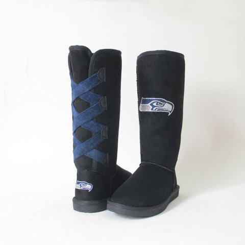 "Crystal Logo ""Victor Boots"" For Seahawks Fans"