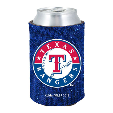 Texas Rangers Official MLB Glitter Can Collapsable Beer Holders