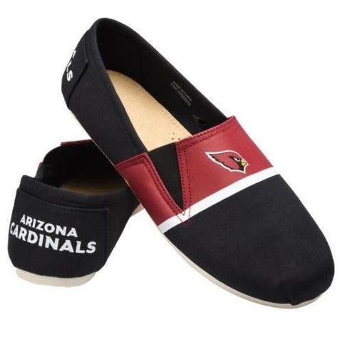 Arizona Cardinals Official NFL Stripe Canvas Shoes - Men