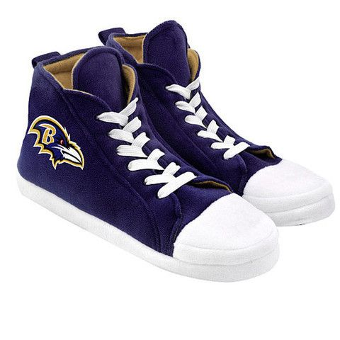 Baltimore Ravens Men's Official NFL Puffy Sneaker Slipper