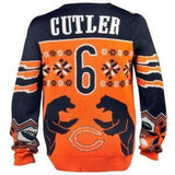 Chicago Bears Jay Cutler Official NFL Ugly Sweater