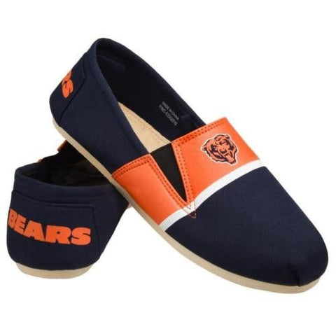 Chicago Bears Official NFL Stripe Canvas Shoes - Men