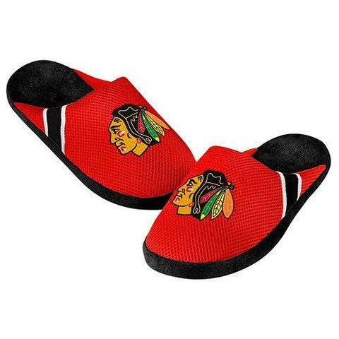 Chicago Blackhawks Men's Official NHL Jersey Slippers