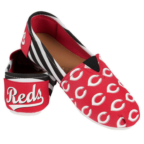 Cincinnati Reds Official MLB Stripe Canvas Shoes