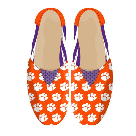 Clemson Tigers Official NCAA Stripe Canvas Shoes