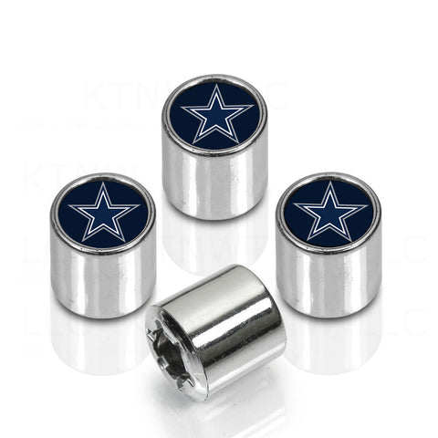 Dallas Cowboys Car Truck SUV Van Chrome Finish Tire Valve Stem Caps