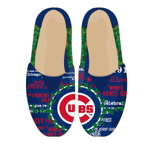 Chicago Cubs MLB  2016 Thematic Canvas Shoes