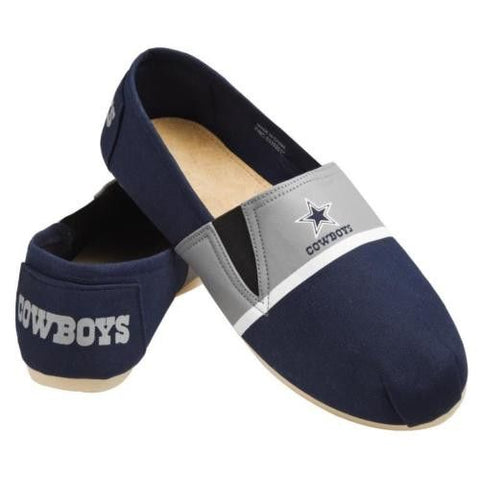 Dallas Cowboys Official NFL Stripe Canvas Shoes - Men