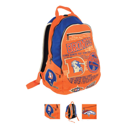 Denver Broncos Historic NFL Book Bag