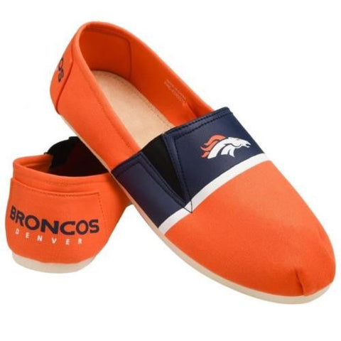Denver Broncos Official NFL Stripe Canvas Shoes - Men