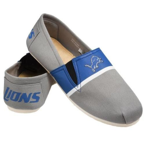 Detriot Lions Official NFL Stripe Canvas Shoes - Men
