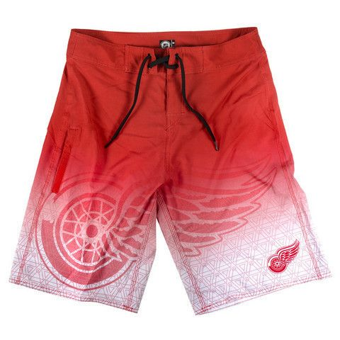 Detroit Red Wings Official NHL Boardshorts