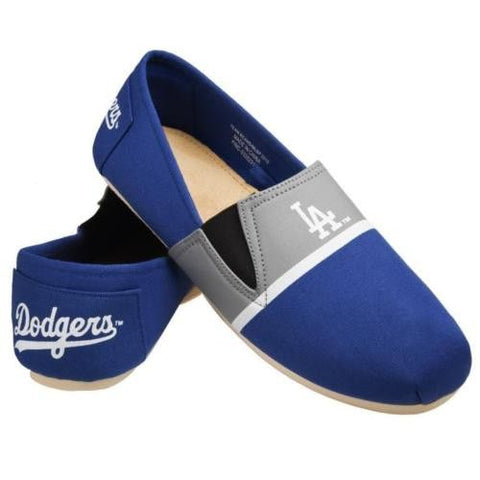 LA Dodgers Official MLB Stripe Canvas Shoes - Men