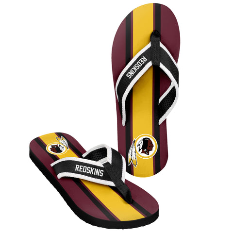 Washington Redskins Official NFL Men's Contour Stripe Flip Flops