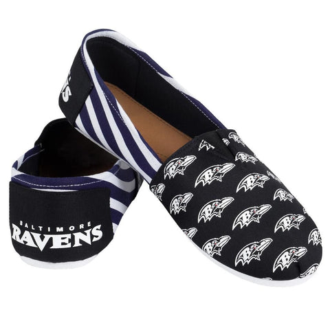 Baltimore Ravens Official NFL Stripe Canvas Shoes