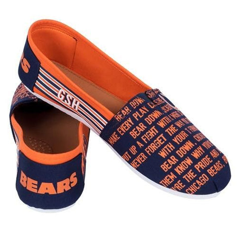 Chicago Bears Official NFL Stripe Canvas Shoes