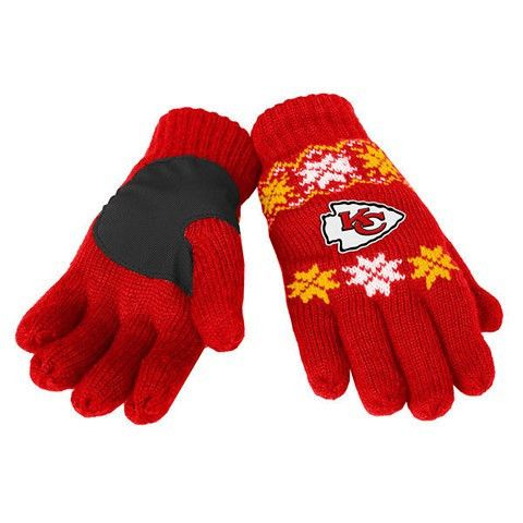 Kansas City Chiefs Official NFL Lodge Gloves
