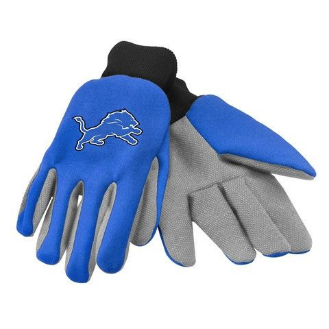 Detroit Lions Official NFL 2015 Ulitity Gloves - Colored Palm