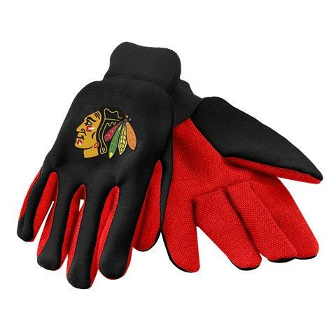 Chicago Blackhawks Official NHL 2015 Ulitity Gloves - Colored Palm