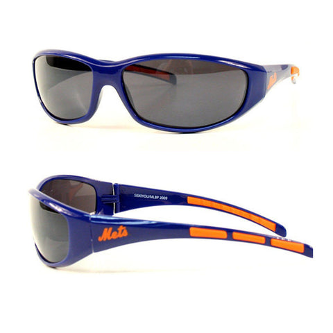New York Mets Men's Official MLB 3 Dot Sports Wrap Sunglasses