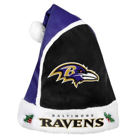 Baltimore Ravens Official NFL 2015 Holiday Santa Hat