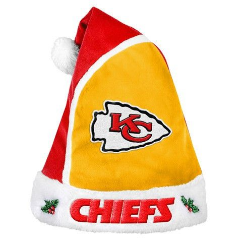Kansas City Chiefs Official NFL 2015 Holiday Santa Hat