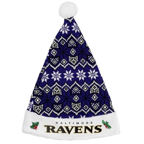Baltimore Ravens 2015 NFL Knit Santa Hat