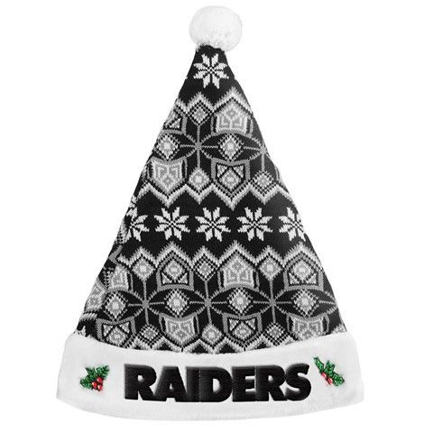 Oakland Raiders 2015 NFL Knit Santa Hat